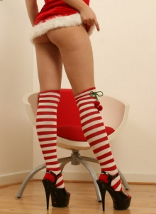 Alicia As She Strips Out Of Her Little Slutty Santa Costume - Picture 2