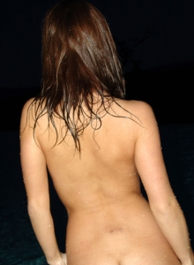 Kate Swiming At Night - Picture 11