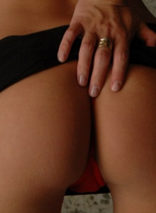 Kate In Tiny Red Thong Shows Her Cameltoe - Picture 3